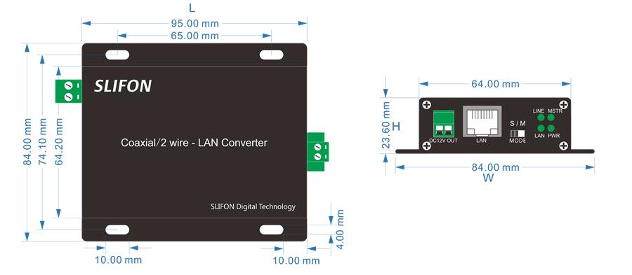 NF-Z1600DC电梯传输器结构尺寸图