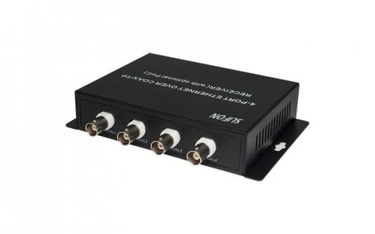 4路集成型同轴网络传输器接收端